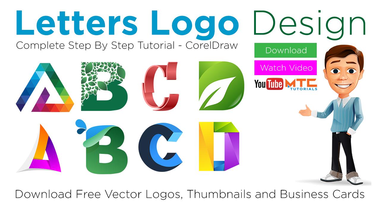 Letters logo design turorials