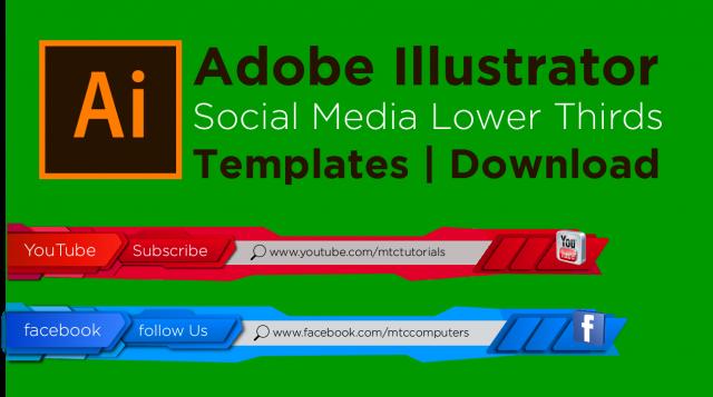 Adobe Illustrator free templates social media mtc tutorials