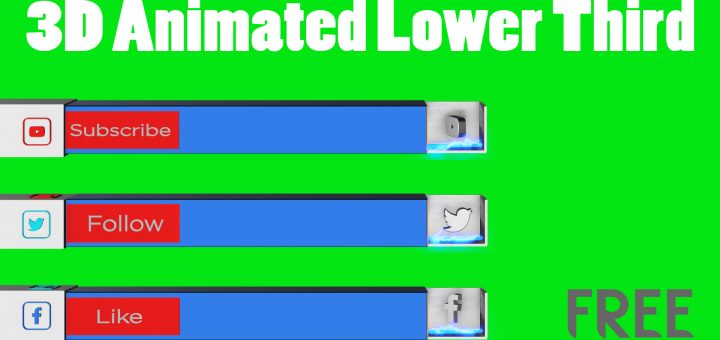 Download free 3d animated lower third templates mtc tutorials