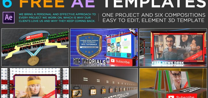 Download free Adobe After Effects Element 3D Templates MTC Tutorials