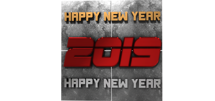 Happy new year free png 3D