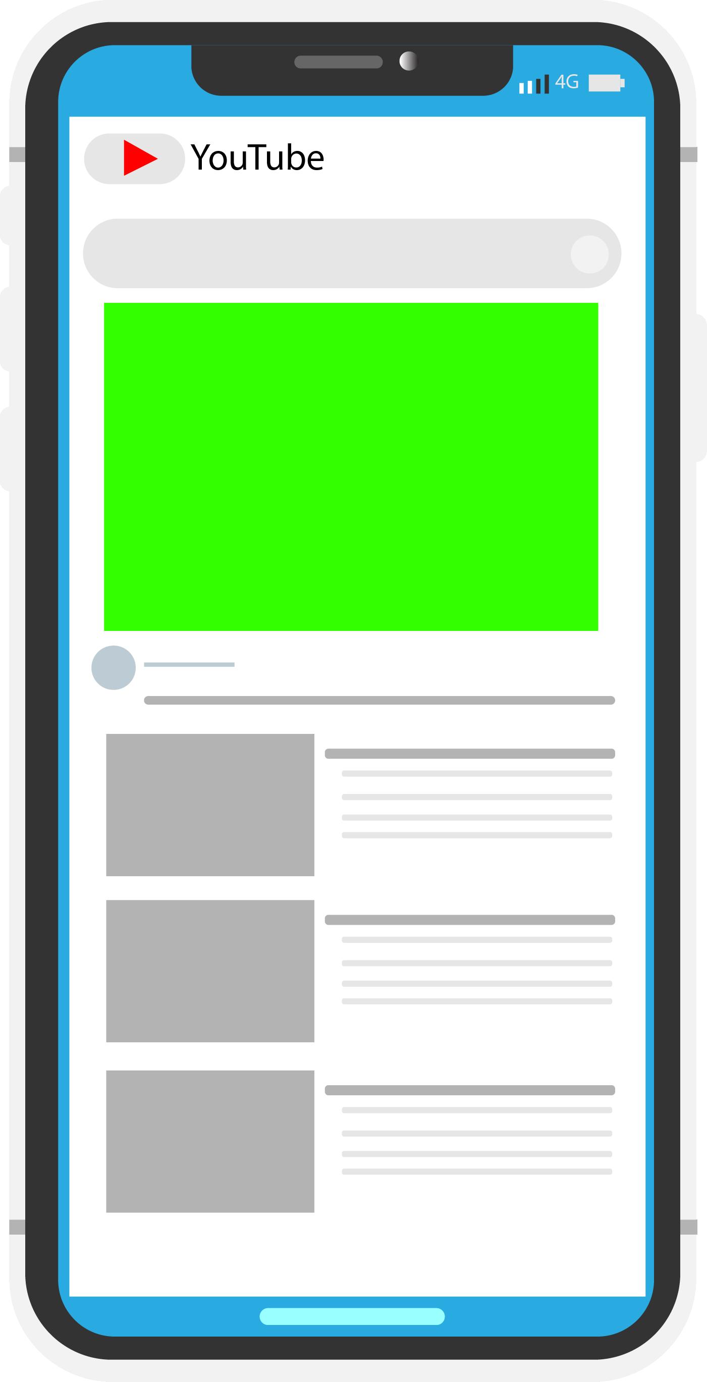 Mobile model free illustrator youtube interface