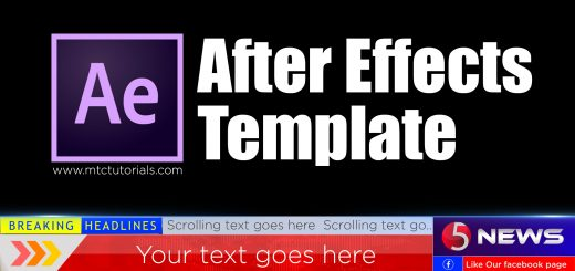 Free adobe after effects lower third for news channels template free download mtc tutorials