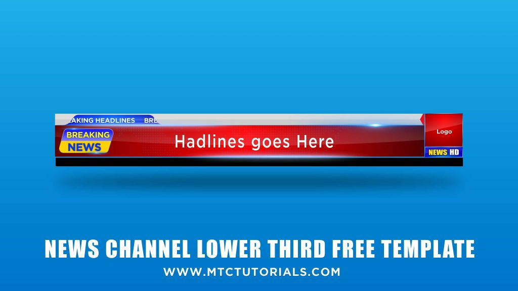 News Lower Third Template - Download High Quality PNG, PSD Templates