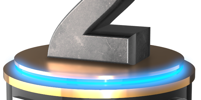 No 2 two count down 3D numbers free png