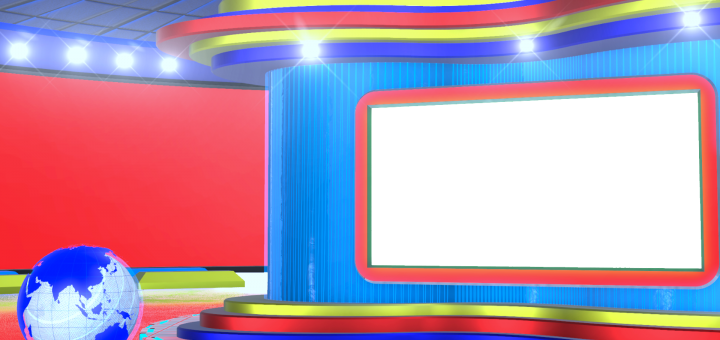 Breaking News Virtual Studio With Globe Red Color PNG Images By mtc tutorials