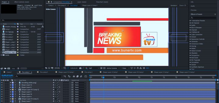Breaking news adobe after effects template
