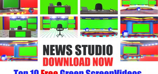 Download free breaking news green screen studio