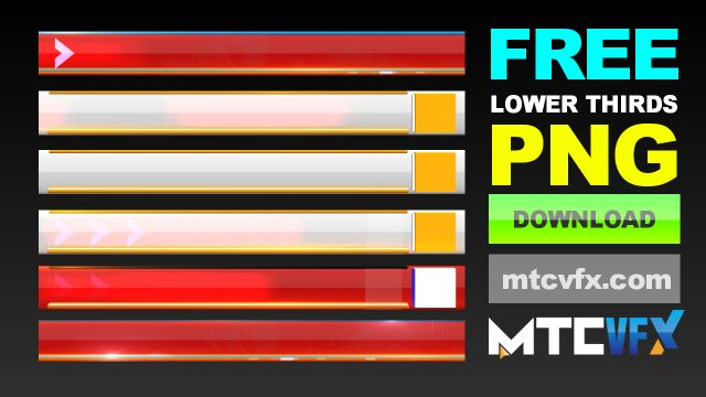 Lower thirds free downloads for news channels and social media by mtc tutorials