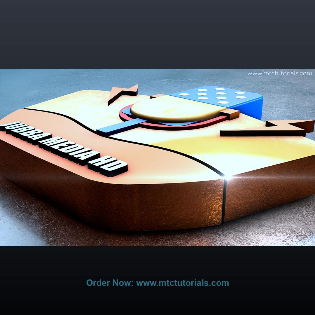 Jubba media 3d logo intro created by mtc tutorials and mtcvfx