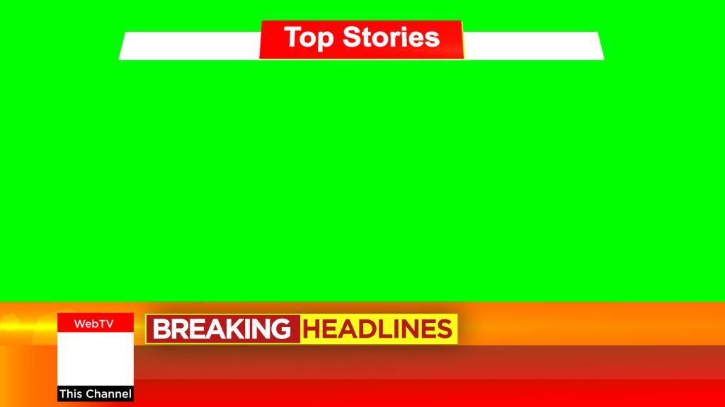 News Top Storis with beautiful lower third design free green screen