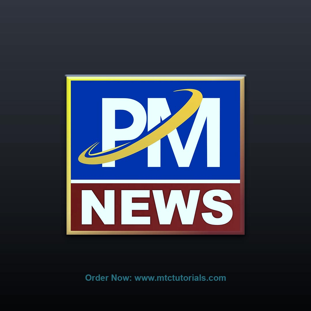 PM News free logo design by mtc tutorials