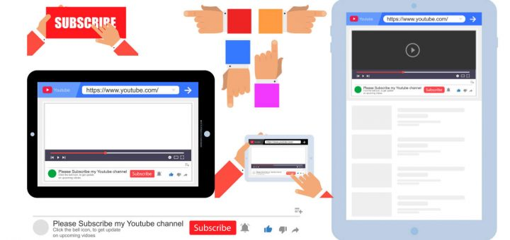 Free Subscribe Button Png, Tablet Png, Bell Icon Png, Video Play, Address Bar, Website Bar, Play Button Png, Psd Templates