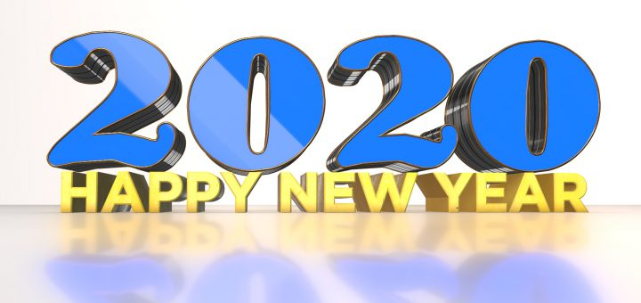 2020 Happy new year beautiful 3D images free download
