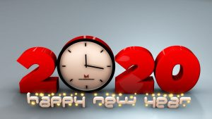 3D Happy new year 2020 Wallpapers High Quality Free Download