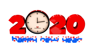 Happy new year 2020 royalty free png images for commercial use