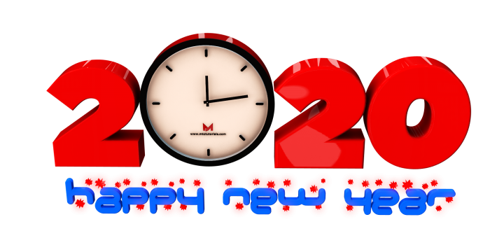 Happy new year 2020 png royalty free images for commercial use