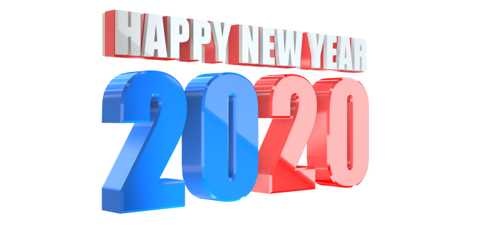 Happy new year 2020 text effect png stock photo colorful Illustration free download