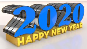Happy new year 2020 wallpapers 3D designed high quality