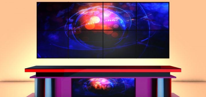 Download HD News desks backgrounds and high quality green screen videos