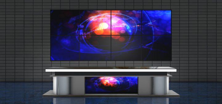Royalty free sets Green screen virtual studio news desk