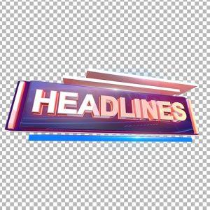 3D Headlines text png download thumbnail
