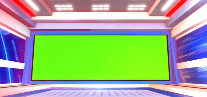 Green screen news studio Set 2020