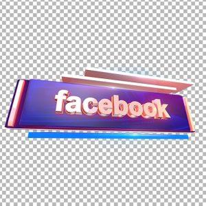 facebook 3d text png thumbnail