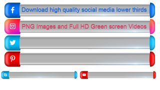 Download 3D color full social media lower thirds high quality