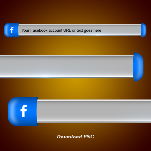 Download Facebook lower third and blank name strip free png