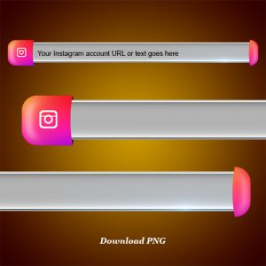 Download Instagram lower third third and blank name strip free png