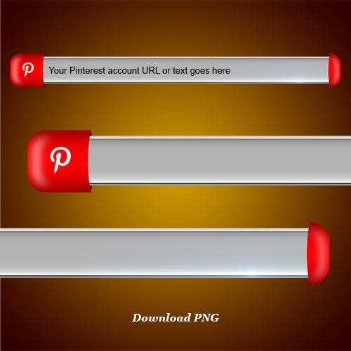 Download Pinterestlower third and blank name strip free png