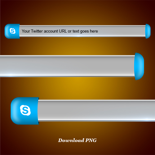 Download Skype lower third and blank name strip free png