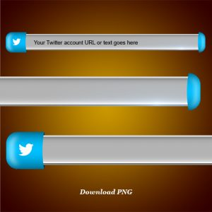 Download Twitter lower third and blank name strip free png