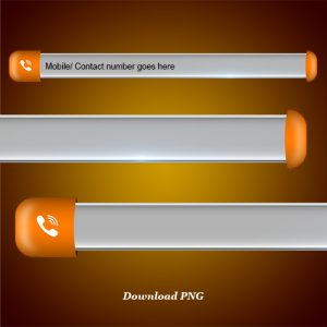 Download mobile number lower third and blank name strip free png