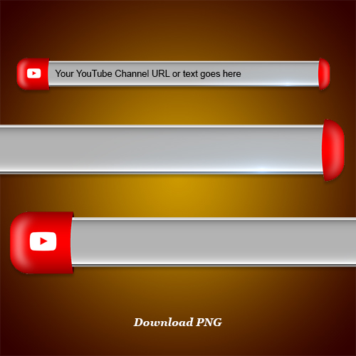 Download youtube lower third and blank name strip free png