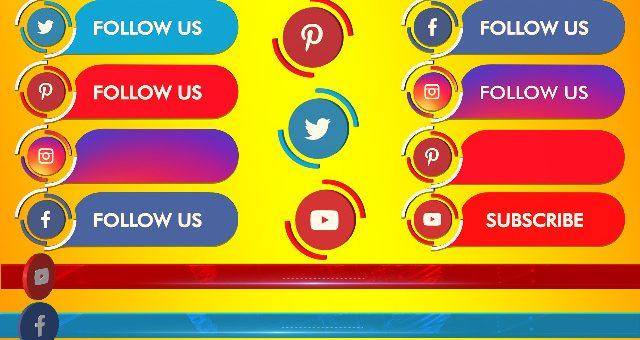 High quality social media lowerthird png