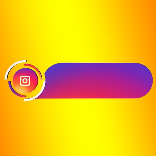 Instagram blank strip lower third png