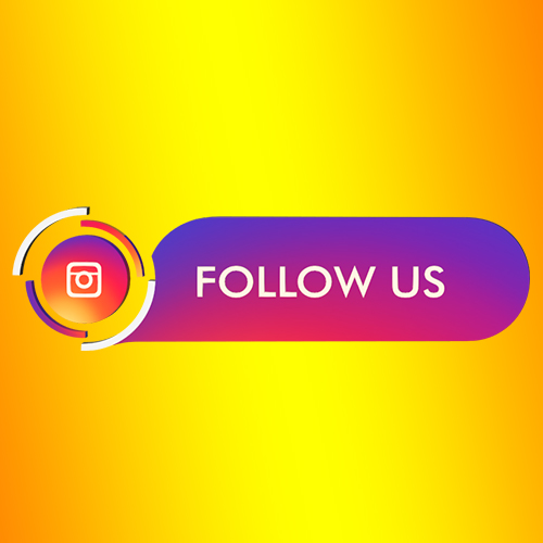 Instagram follow us strip and button