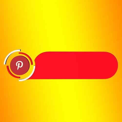 Pinterest blank Strip Lowerthird 3d