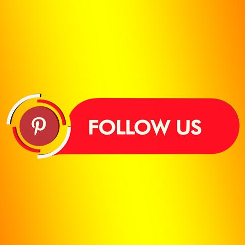 Pinterest follow us strip png