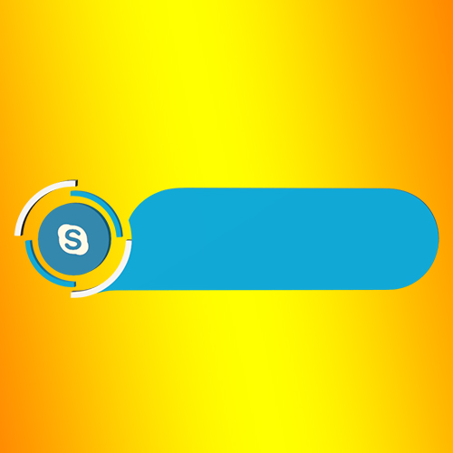 Skype no text Lowerthird strip png