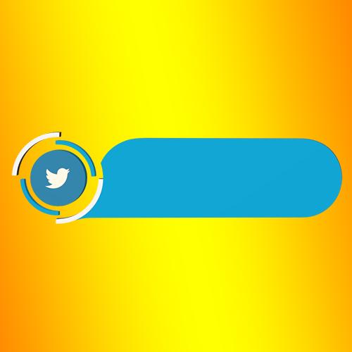Twitter link blank strip lower third