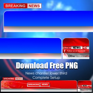 Blue and red color breaking news free png high quality download