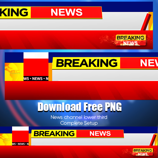 Download colorful lower third for news channel