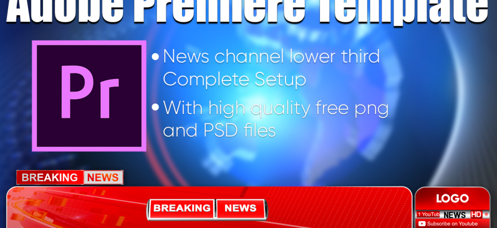 Modern News Channel Lower Third Setup Adobe Premiere Template