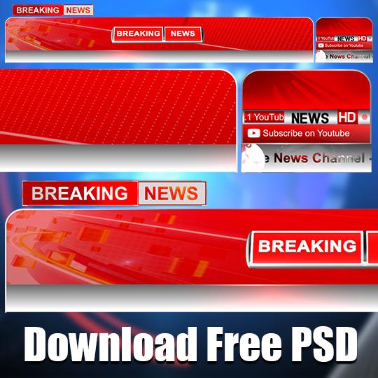 Modern News Channel Lower third PSD Photoshop template mtc tutorials