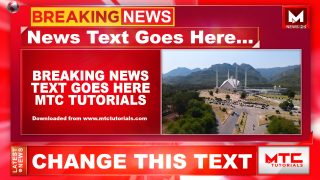 Indian style news channel setup after effects temp