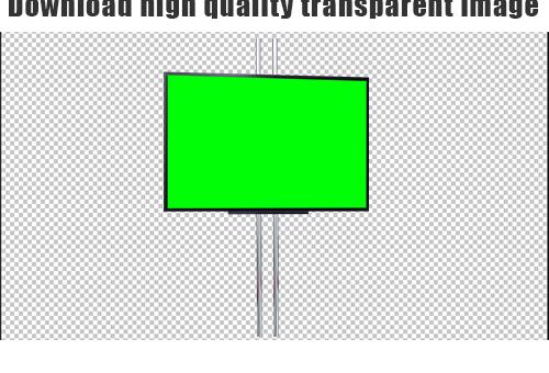 News studio lcd frame png green screen