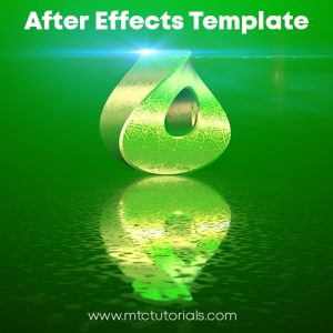 Realistic 3D Twisted Logo Jumping Animation Adobe AfterEffects Template